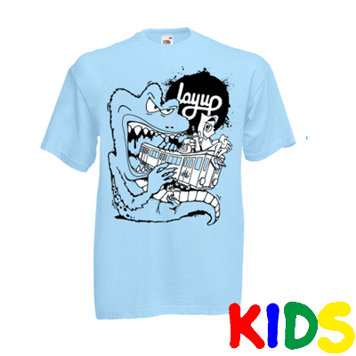 LAYUP X ROSY ONE T-Shirt TRAIN MONSTER sky blue - Kids