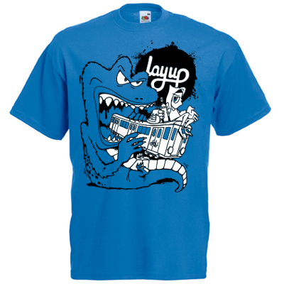 LAYUP X ROSY ONE T-Shirt TRAIN MONSTER royal blue