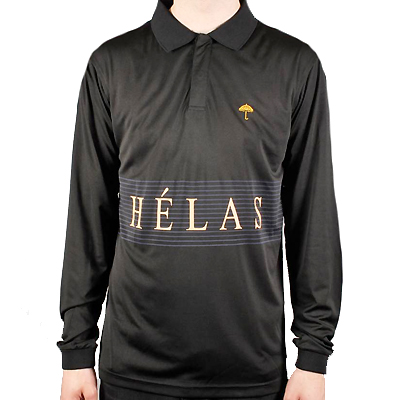 HELAS Longsleeve Polo CLUB TRAINING JERSEY black
