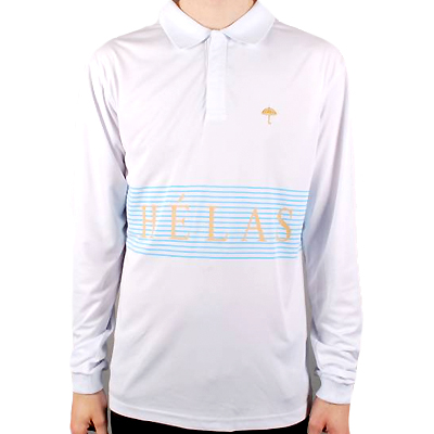 HELAS Longsleeve Polo CLUB TRAINING JERSEY white