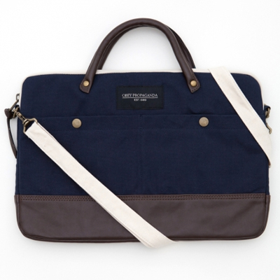OBEY Laptop Bag TRAVELER BRIEFCASE navy