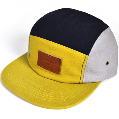 GRAND SCHEME 5Panel Cap TRI COLOUR mustard