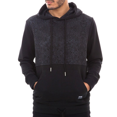 WRUNG Hoody TRIBU black/grey