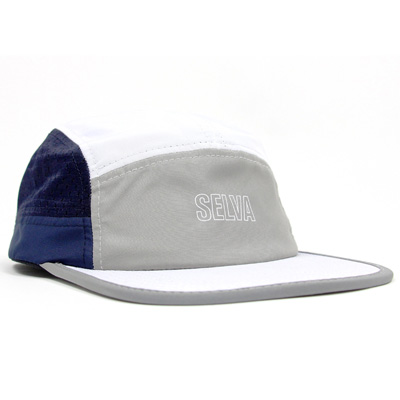 SELVA 5Panel Cap TRICOLOR white/grey