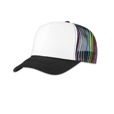 Trucker Cap Multiline white