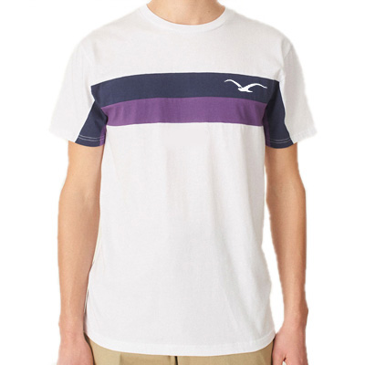 CLEPTOMANICX T-Shirt FASTER white/navy/purple