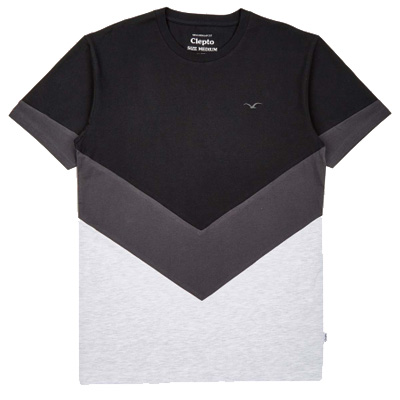 CLEPTOMANICX T-Shirt DOWNER black/grey