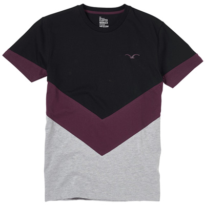 CLEPTOMANICX T-Shirt DOWNER black/purple/grey