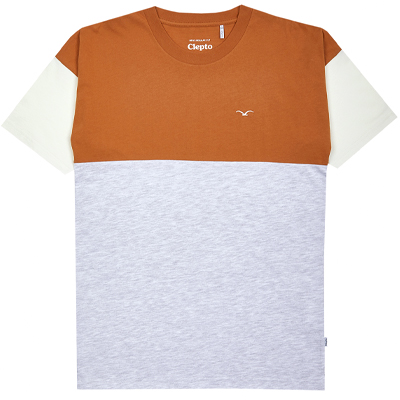 CLEPTOMANICX T-Shirt DROP brown ginger