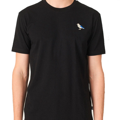 CLEPTOMANICX T-Shirt EMBRO GULL black