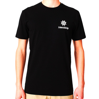 CLEPTOMANICX T-Shirt FRIENDSHIP black