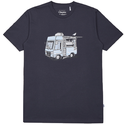 CLEPTOMANICX T-Shirt ICE CREAM TRUCK phantom black
