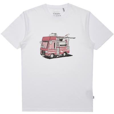 CLEPTOMANICX T-Shirt ICE CREAM TRUCK white