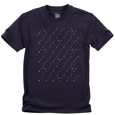 CLEPTOMANICX T-Shirt MAZE dark navy