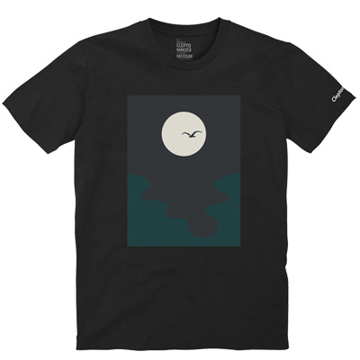 CLEPTOMANICX T-Shirt MOON black