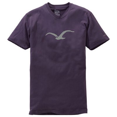CLEPTOMANICX T-Shirt MÖWE dark plum/grey