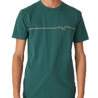 CLEPTOMANICX T-Shirt MÖWE LINES bottle green