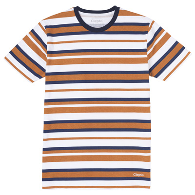 CLEPTOMANICX T-Shirt MULTISTRIPE white/beige