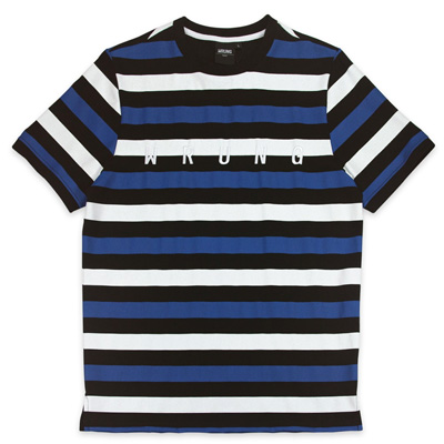 WRUNG T-Shirt NOTORIOUS black/blue/white