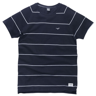 CLEPTOMANICX T-Shirt PIQUET STRIPE black/white