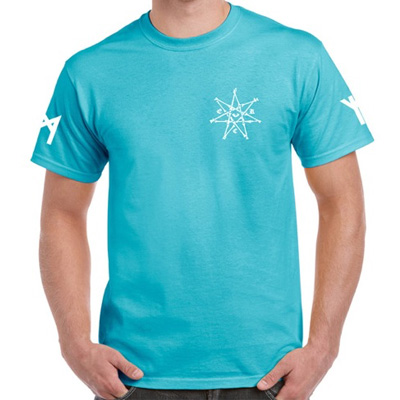 EGOKING T-Shirt RUNES 3 lagoon blue