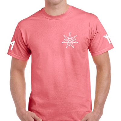 EGOKING T-Shirt RUNES 3 coral red