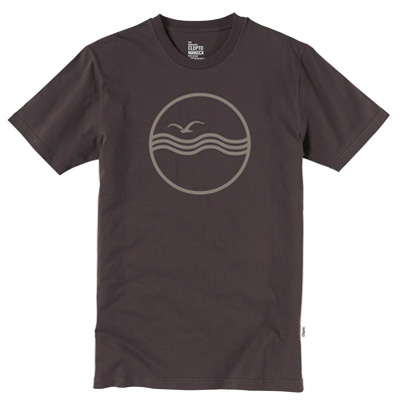 CLEPTOMANICX T-Shirt SEA GULL chocolate