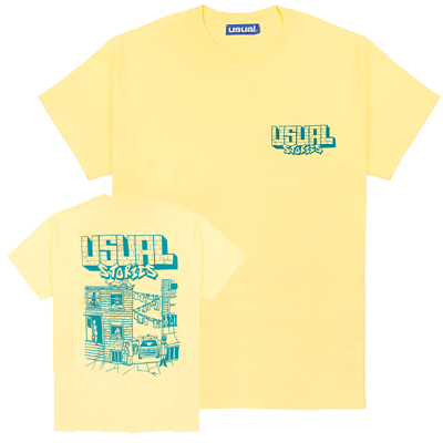 USUAL T-Shirt USUAL STORIES light yellow