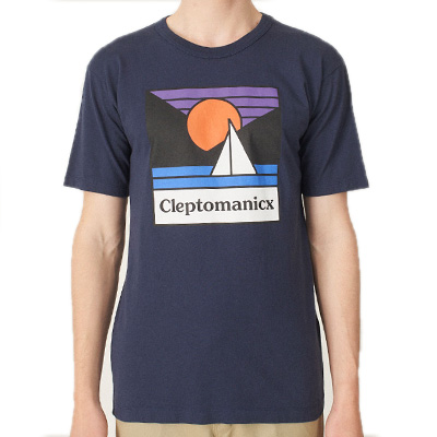 CLEPTOMANICX T-Shirt VOYAGE PATCH dark navy