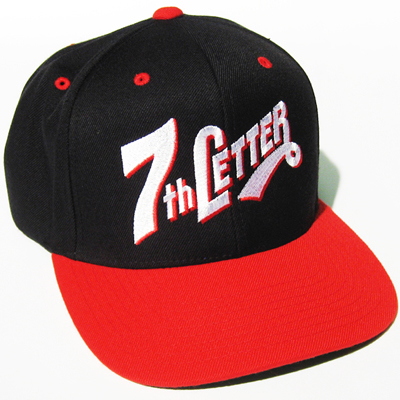 7TH LETTER Snap Back Cap TALL&BOLD II black/red