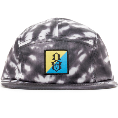 REBEL8 5Panel Cap TIE-DYE black