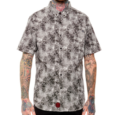 REBEL8 Short Sleeve Shirt UNDER MY THUMB grey/black