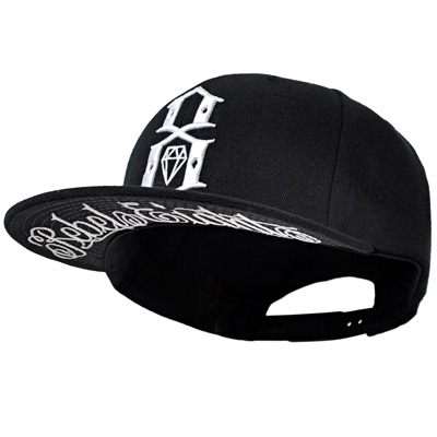 REBEL8 Snap Back Cap S.I. LOGO W. UNDERBRIM black/white