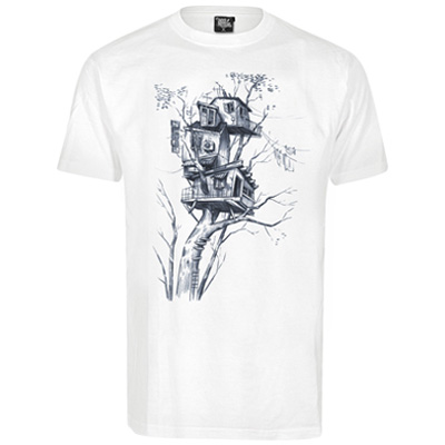 UNDERPRESSURE T-Shirt AIR CONDITION white/blue