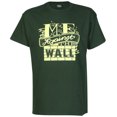 UNDERPRESSURE T-Shirt ME AGAINST THE WALL green