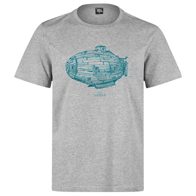 UNDERPRESSURE T-Shirt NAUTIQUE heather grey/turquoise