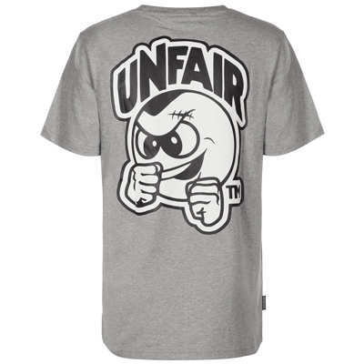 UNFAIR ATHLETICS T-Shirt PUNCHING BALL heather grey/white