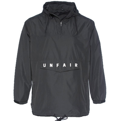 UNFAIR ATHLETICS Anorak Jacket UNFAIR WINDBREAKER black