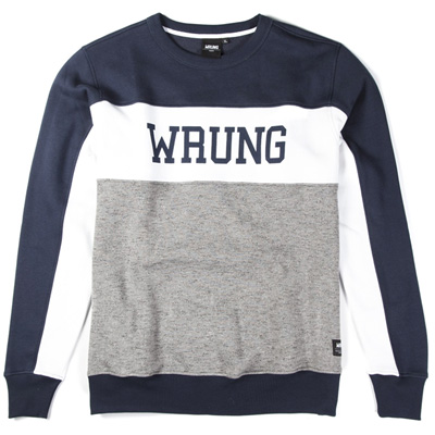 WRUNG Sweater UNION navy/white/grey