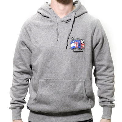 UPRIGHT Hoody TOPMODEL heather grey
