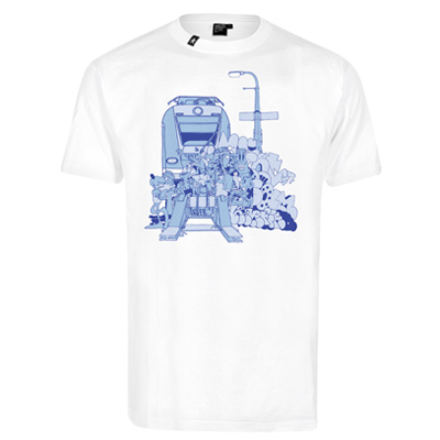 HEKTIK T-Shirt VENTS 137 white/blue