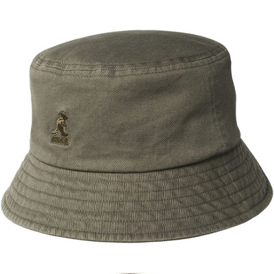 KANGOL Bucket Hat WASHED COTTON smog olive