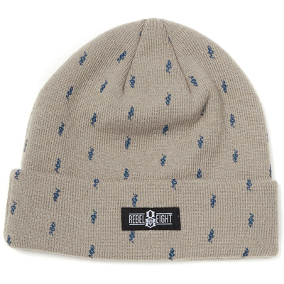 REBEL8 Beanie ALL OVER SNAKE grey