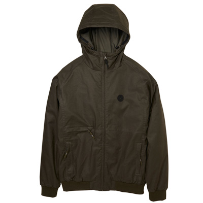 CLEPTOMANICX Winter Jacket POLARZIPPER HEMP II dark olive