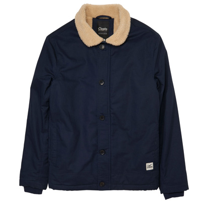 CLEPTOMANICX Jacket DECKHAND dark navy