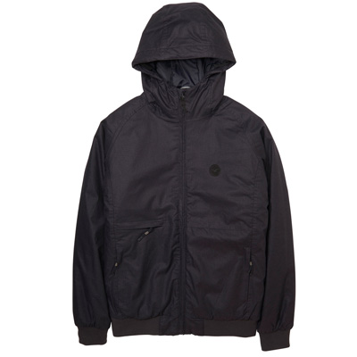 CLEPTOMANICX Winter Jacke POLARZIPPER HEMP II black
