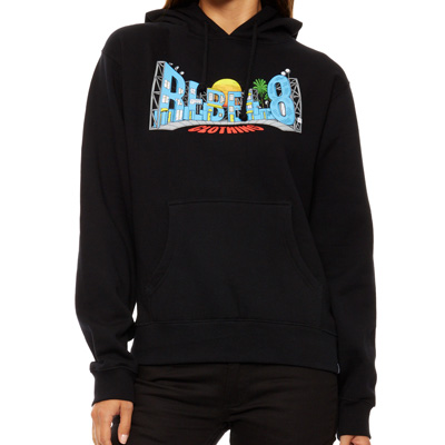 REBEL8 Girl Hoody BACK LOT black
