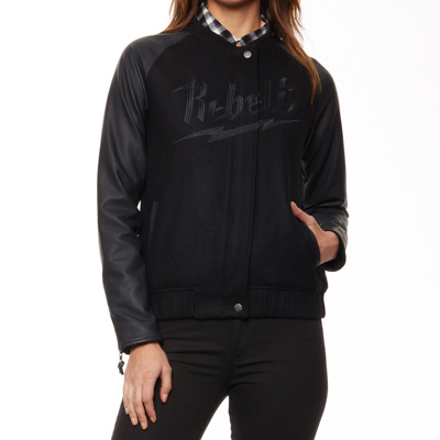 REBEL8 Girl Jacke BOLTED VARSITY black