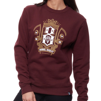 REBEL8 Girl Sweater GRIM burgundy/gold