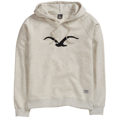 CLEPTOMANICX Girl Hoody MÖWE 3 heather creme/black
